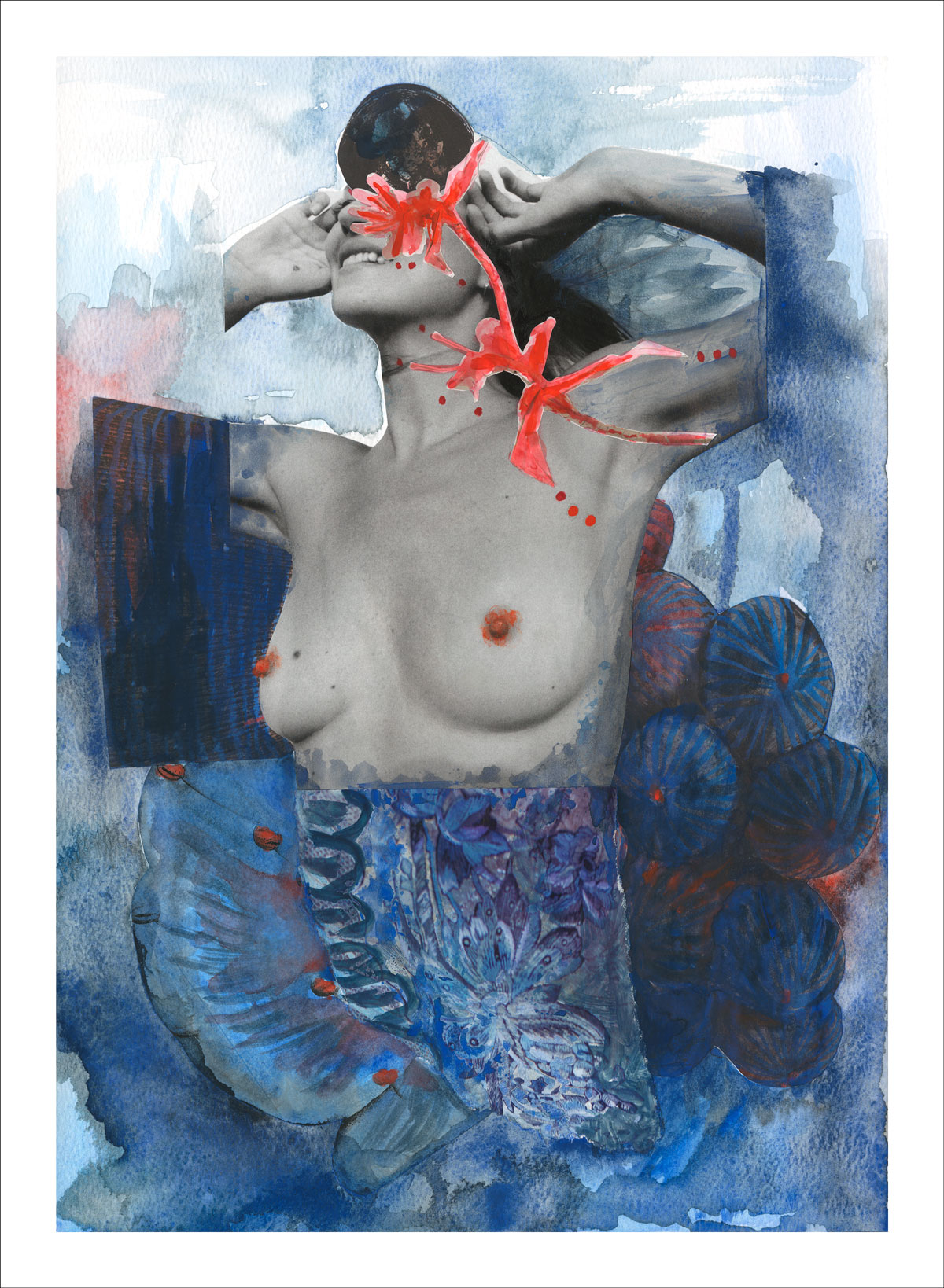 Muse I - mixed media collage