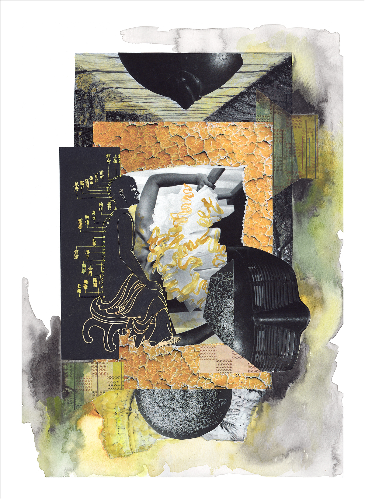 The Mysteries of Power - mixed media collage